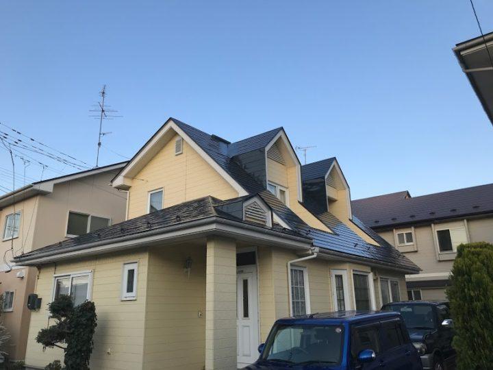 勾配のある屋根でも大丈夫! 八戸市 S様邸 屋根塗装工事